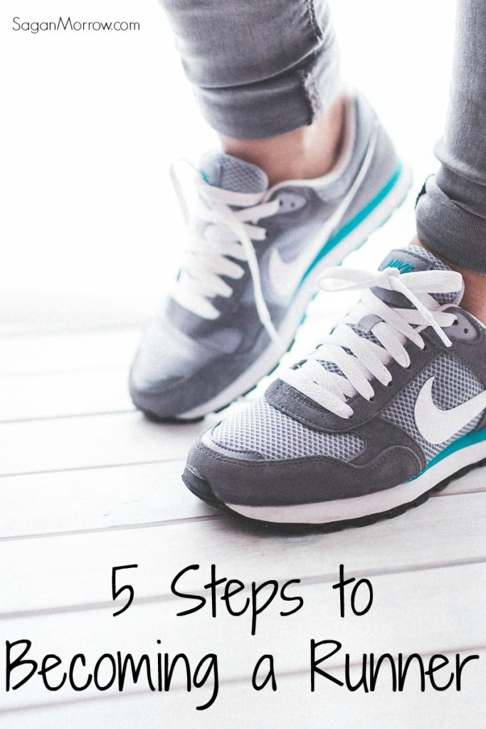 5 steps to becoming a runner: beginner runner tips! These running tips will help you be a better runner and to run faster and farther over time.