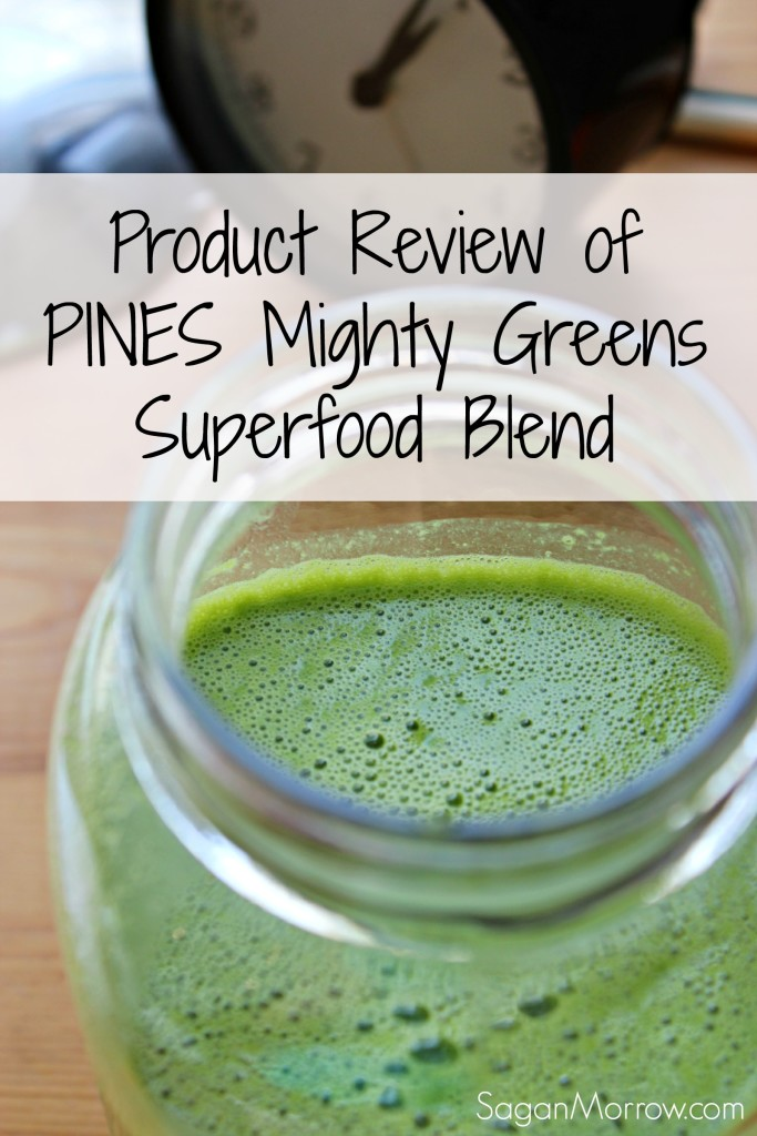 Product review of PINES Mighty Greens Superfood Blend ~ green smoothies ~ health blog ~ healthy product