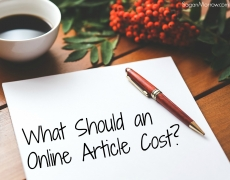 What Should an Online Article Cost?