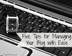 Five Tips for Managing Your Blog(s)