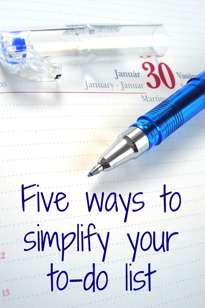 Simplify your to-do list in 5 easy steps! Simplifying your to-do list will help you be more productive & even feel better. Productivity tips ~ to do list ~ organization tips