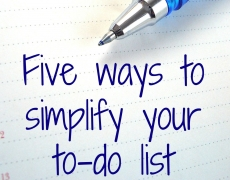 Simplify Your To-Do List
