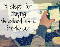 How do you stay disciplined when you don't have a boss?