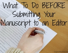 What To Do BEFORE Submitting Your Manuscript to an Editor