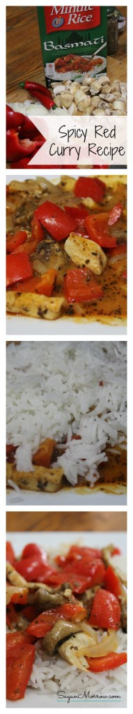 Spicy red curry recipe ~ healthy recipe ~ delicious curry recipe ~ gluten-free recipe ~ chicken and rice