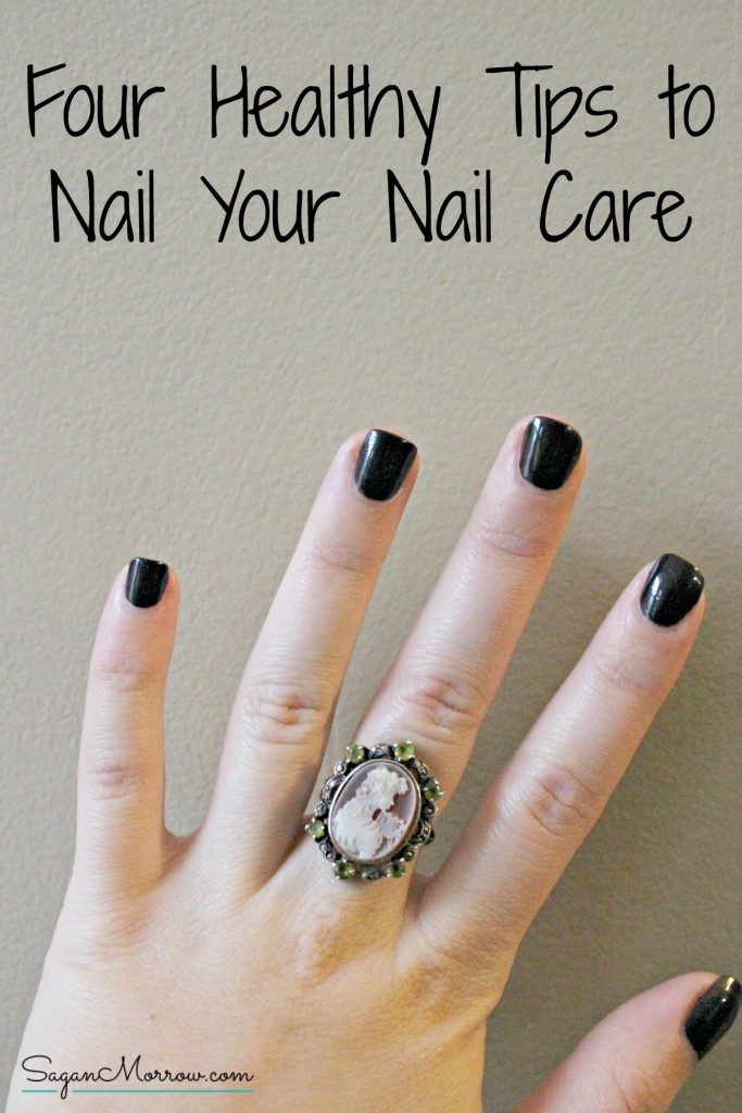 "Do you keep your nails healthy? Do you know the best ways to keep them healthy and looking great? Find out in this article featuring 4 tips to ""nail"" your nail care routine! Pin for later or click on the link now to learn how to best take care of your nails."