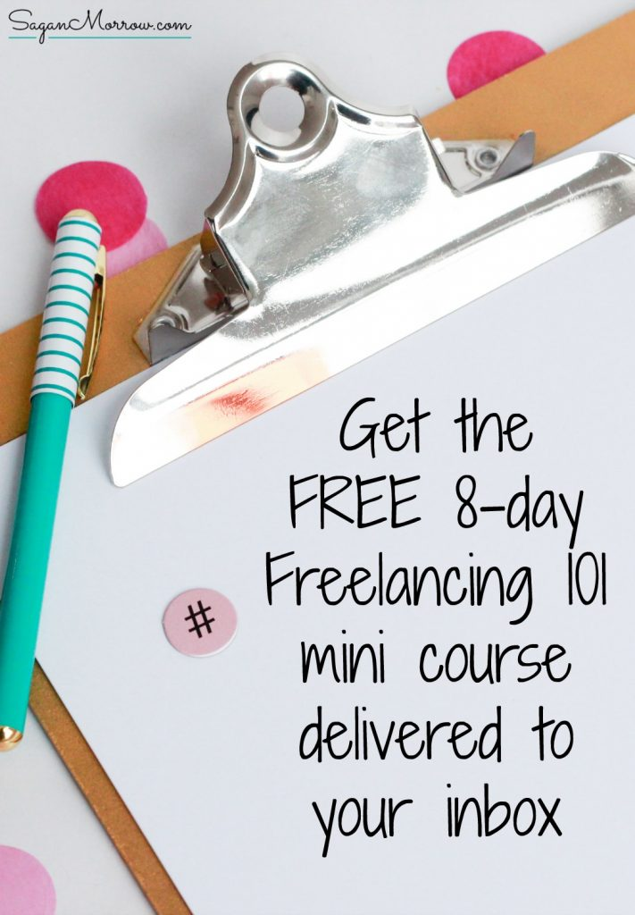 Freelancing 101 mini course for new freelancers! Get tips for setting rates, honing in on your niche, how to take your freelance business to the next level and more. Click on over to get the FREE freelancing lessons now!