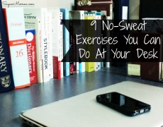 9 No-Sweat Exercises You Can Do At Your Desk