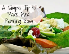 1 Simple Tip to Make Meal Planning Easy