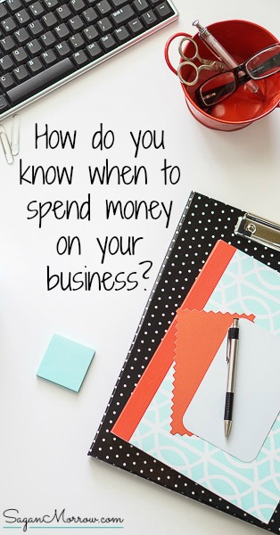 If you want your business to be a success, you NEED to invest in it! But how do you know when to spend money on your business? In this article, you'll get 5 questions to ask yourself BEFORE making that purchase for your business. Click on over to get these small business tips now! ::: freelance tips ::: small business advice :::