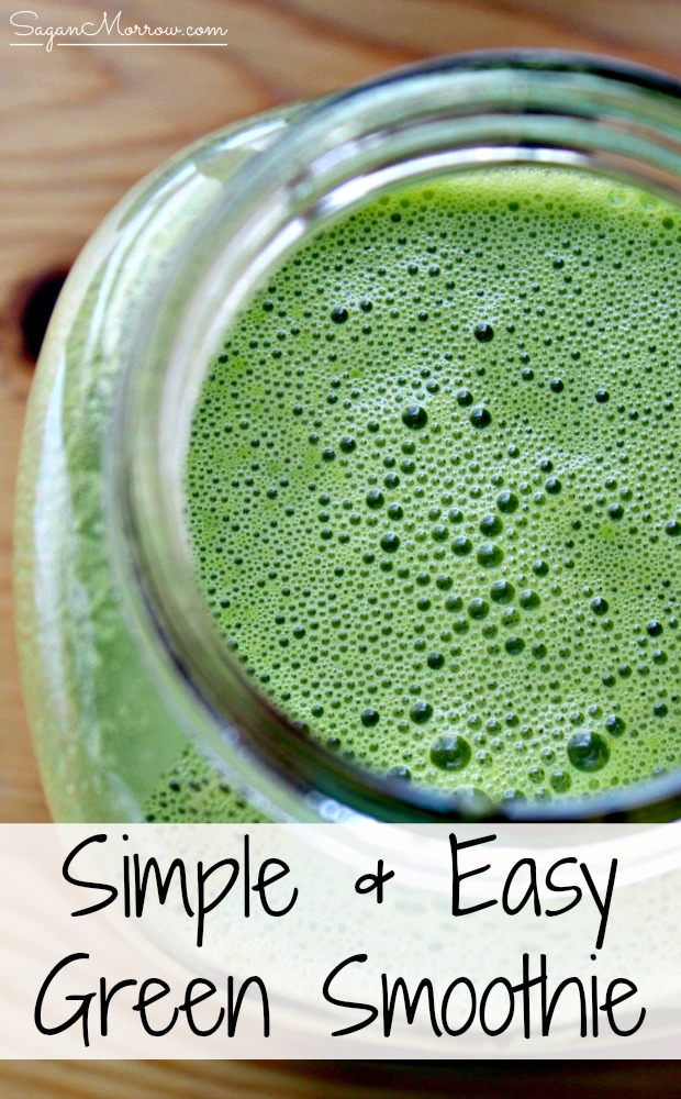 Want to start your day off healthier? Try this simple & easy green smoothie recipe! This is a healthy and delicious, easy green smoothie that will take you no time at all to blend. No fussing around with measurements, either. Click on over to get the green smoothie idea now!