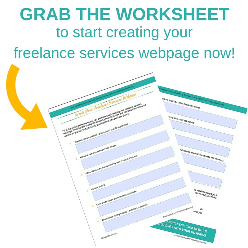 freelance tips worksheet