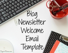 Blog Newsletter Welcome Email Template