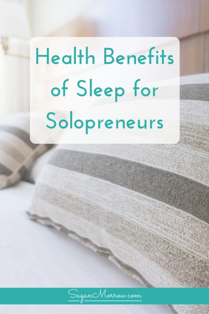Get 3 health benefits of sleep for solopreneurs, PLUS a couple extra tips on how to manage things when you don't sleep well, in this article featuring sleeping tips for solopreneurs! Click on over to get the healthy sleep tips now.