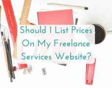 Should I List Prices On My Freelance Website?