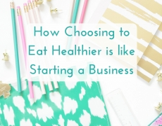 How Choosing to Eat Healthier Is Like Choosing to Start a Business