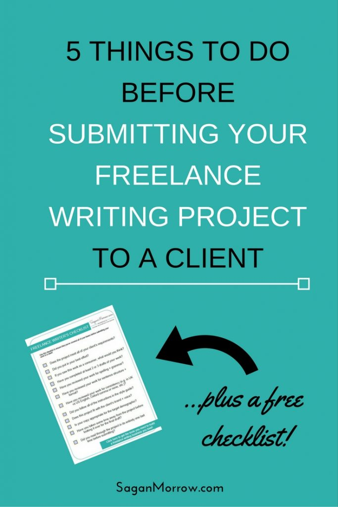 Do you get butterflies when you're about to submit a freelance writing project to a client? ME TOO. That's why I created this handy freelance writing project checklist, so that you can check off all the boxes and then submit your work with confidence that you've done an awesome job. Click on over to grab the checklist and read the article now!