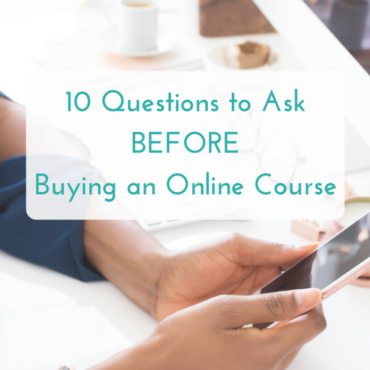 questions to ask before buying an online course