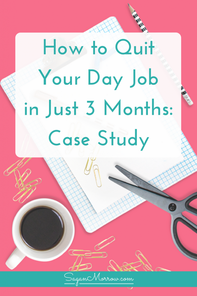 Want to FINALLY quit your 9 to 5 job? Learn how to quit your day job i this special case study! You'll find out how a teacher transitioned out of her day job and into working from home full-time as a blogger/VA... within just 3 months. Click on over to get the scoop!