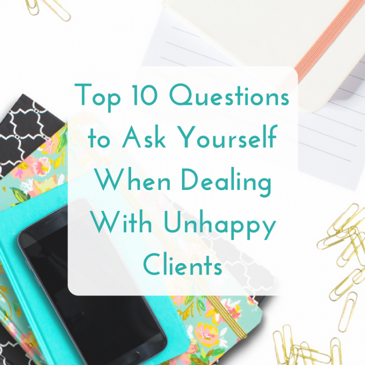 dealing with unhappy clients