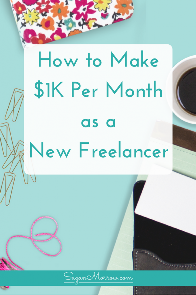 Get the inside scoop on how to make $1K each month as a new freelancer! This article outlines what one new freelancer did to start getting clients... and how you can do the same to make $1K plus more, every single month with your freelance business