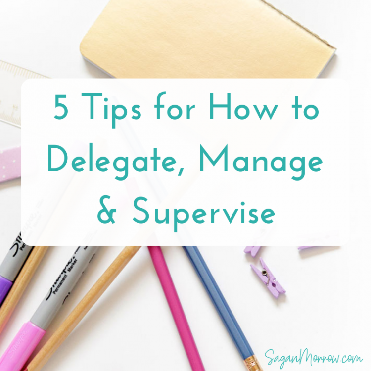 Not sure how to delegate, manage, or supervise people? These 5 project management tips will help you out! Foster healthy relationships with the people you manage and become a better leader today with these management tips...