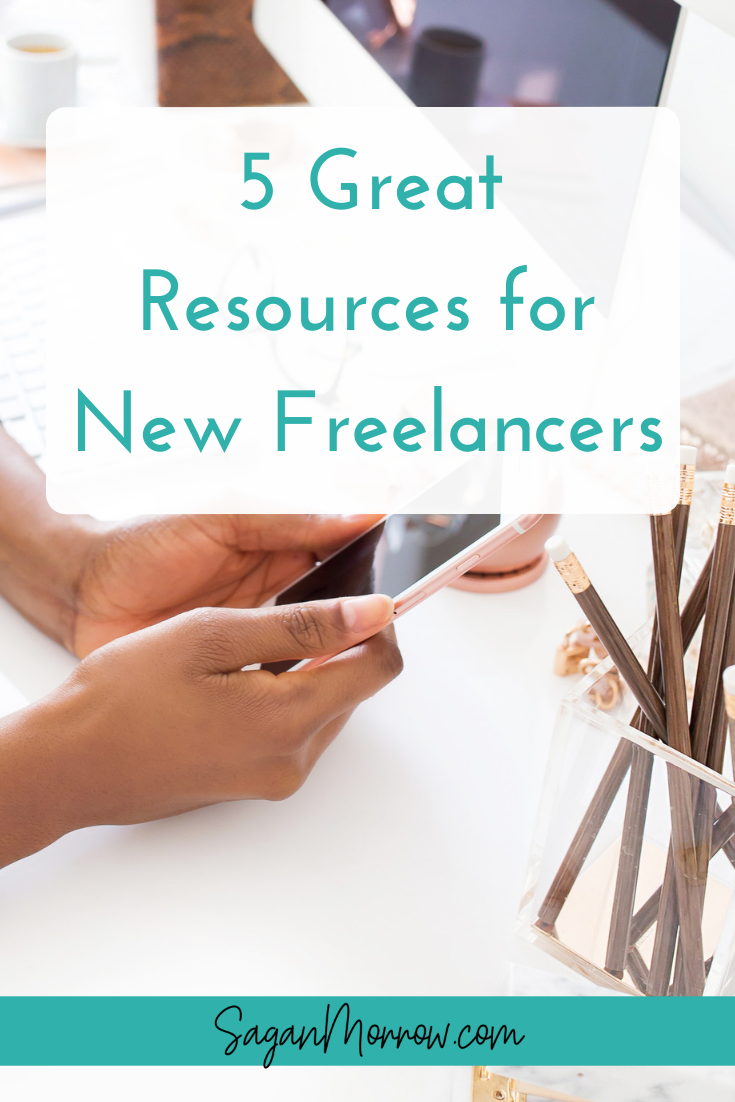 Get 5 helpful resources for new freelancers! These resources cover great business tips & freelancing tips and are must-reads for anyone new to freelancing.