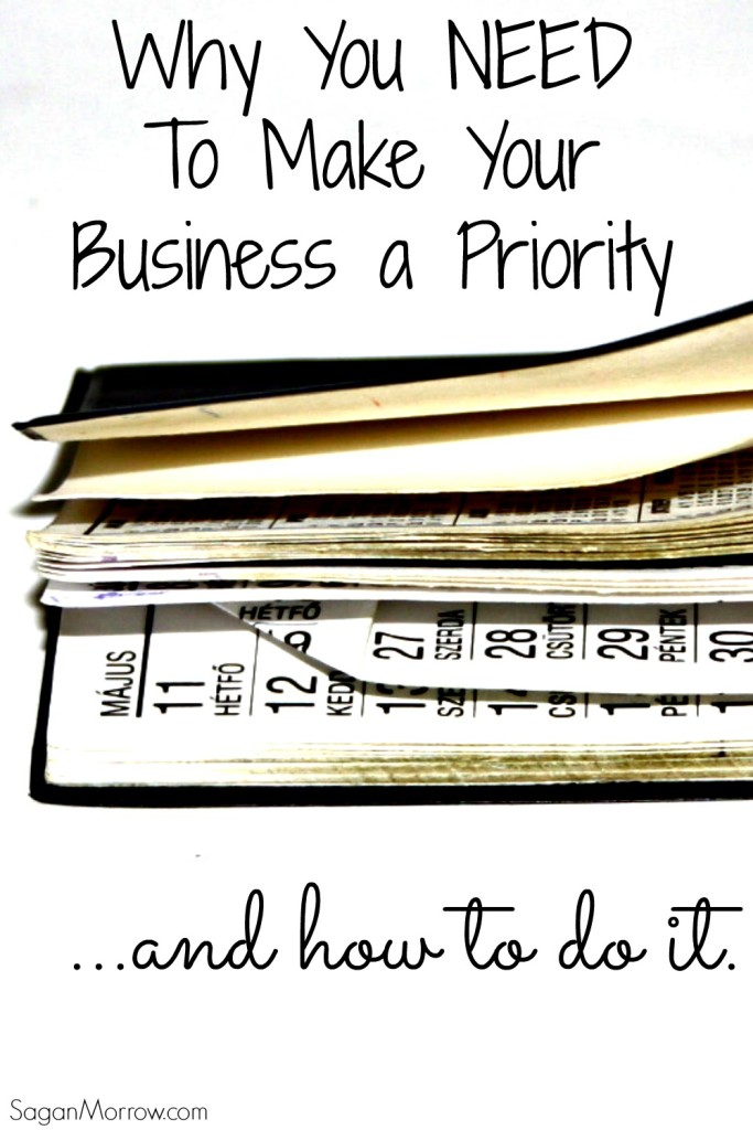 Why you NEED to make your business a priority... plus 4 strategies to actually DO it! This is a must-read for small business owners, bloggers, & freelancers. Sometimes you have to put yourself and your business first!