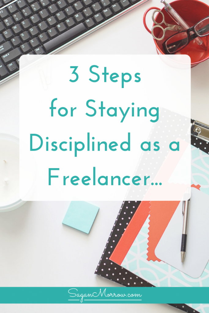 Be productive even when you don't have a boss! This article outlines 3 productivity tips for staying disciplined as a freelancer (also good tips for bloggers!)