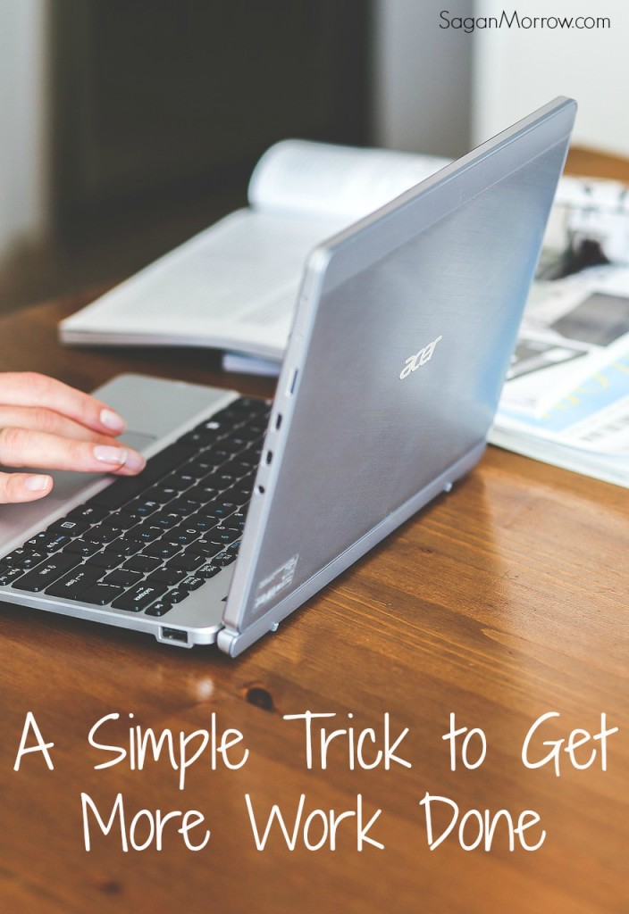 Try this simple trick to get more work done! A productivity tip that is especially useful for freelancers. ~ business tips when you're feeling overwhelmed ~