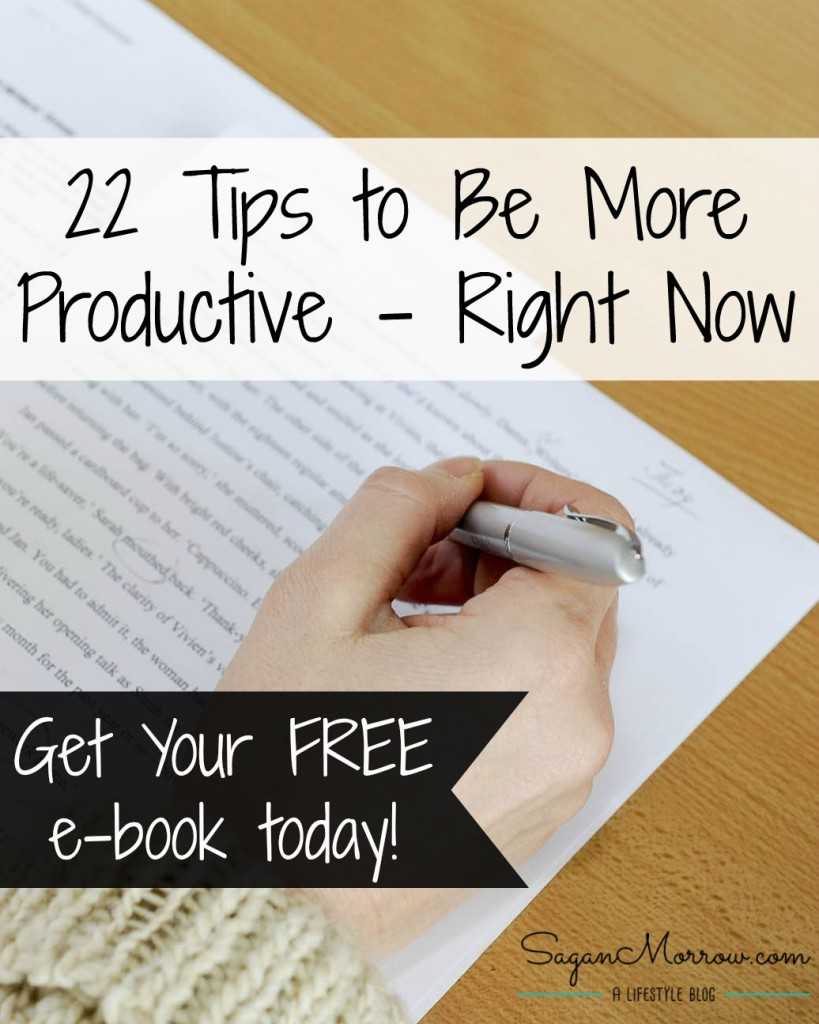 "Get a FREE copy of ""22 Tips to Be More Productive - Right Now."" This practical e-book contains productivity tips, time management tips, organization ideas & more to maximize your time & be your most efficient self! Become more productive in the workplace with this helpful how-to book."