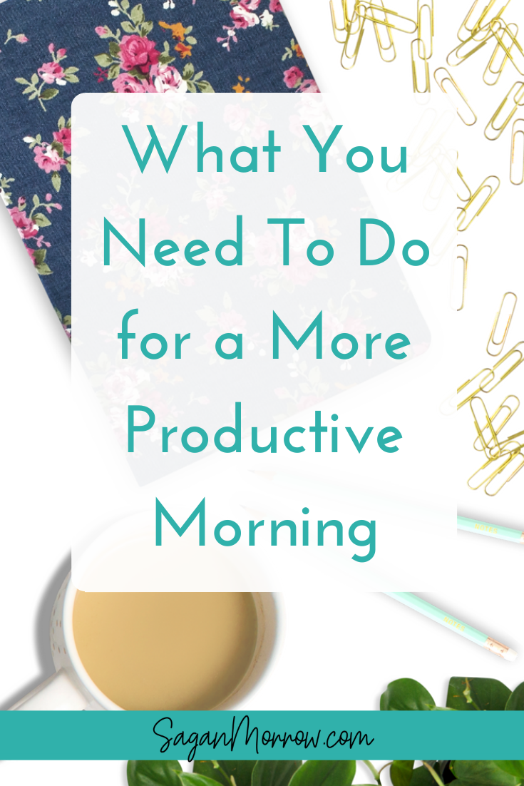 Wish you were a little more productive during the day? It all starts with a more productive morning! Find out the top 3 things you NEED to do for a more productive morning in this article - read it now to start being more productive instantly! ~ productivity tips ~ how to be productive ~