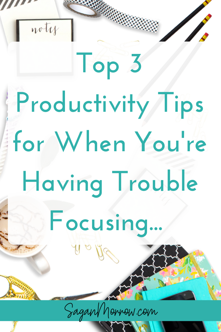 Having difficulty staying on task & getting your work done? Find out the top 3 productivity tips for when you're having trouble focusing in this article! Click on the link to get awesome productivity tips that will help you stay productive even when you feel overwhelmed and burned out.