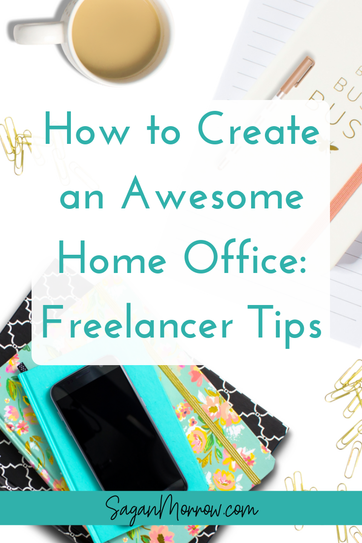 Get 5 great home office tips for freelancers in this article! Click through to find out what you need to know to create your home office ~ freelancing tips ~ working from home ~ home-based small business tips ~ small business owner ~ home office ideas ~