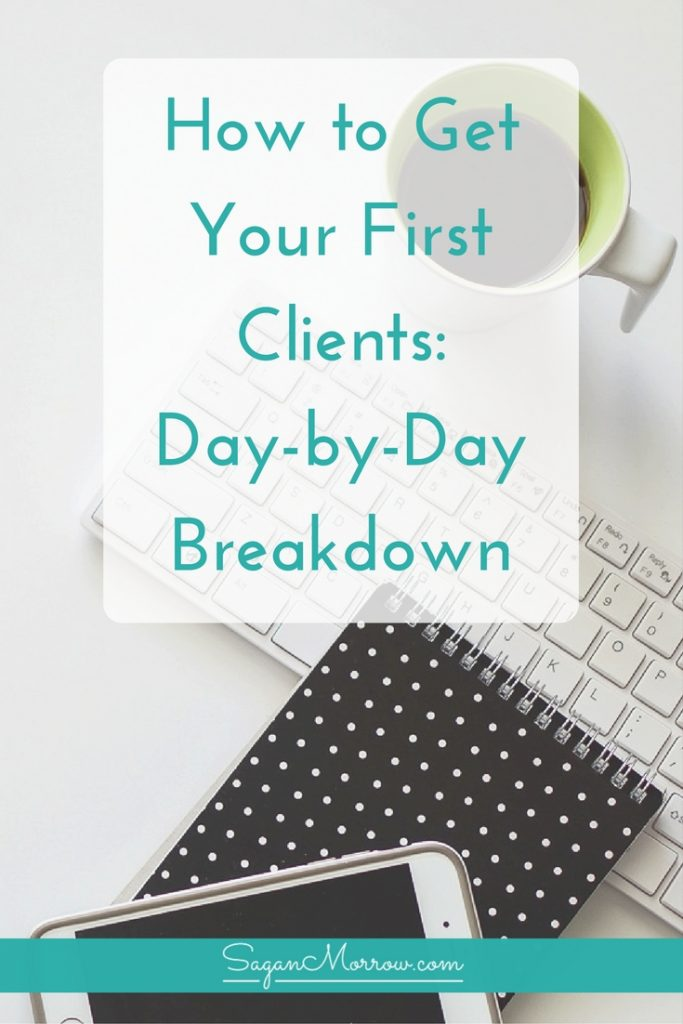 Find out how to get clients for your freelance business in this step-by-step guide! You'll get a week-long day-by-day breakdown of what tasks to do to build relationships with potential clients and turn them into paying clients. Click on over to get the freelance tips + start working with clients now!