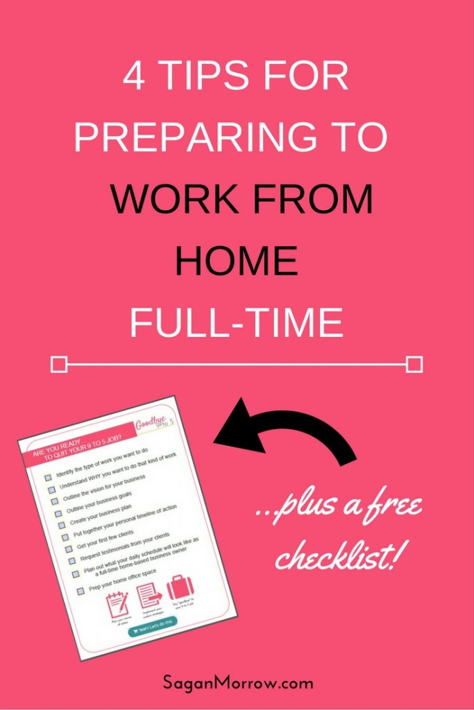 Get 4 tips to prepare to work from home full-time in this article -- plus a checklist to help you set up your successful work-from-home freelance business! Click on over to get the freelance tips now so you can FINALLY quit your 9 to 5 job + live your dream job