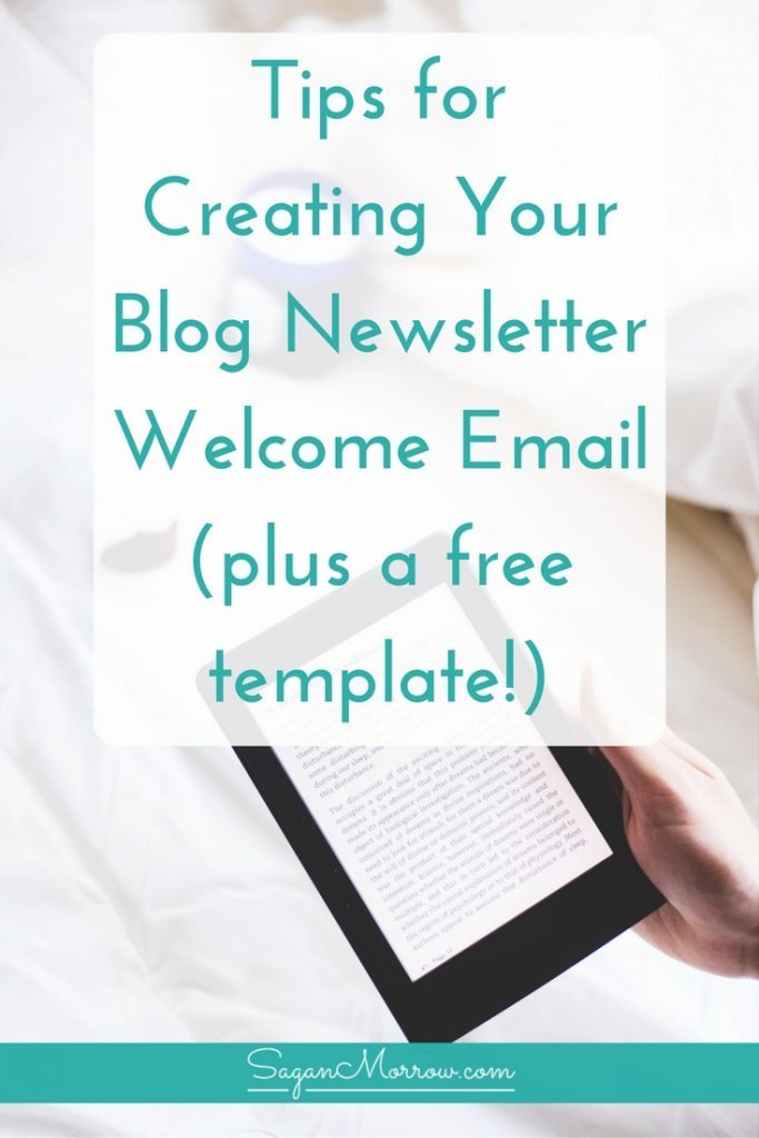 Get tips (plus a template!) for how to create a welcome email that WORKS for your new newsletter subscribers -- email marketing tips for bloggers, small business owners, freelancers & more. Click on over to get the blog newsletter welcome email tips & template now!
