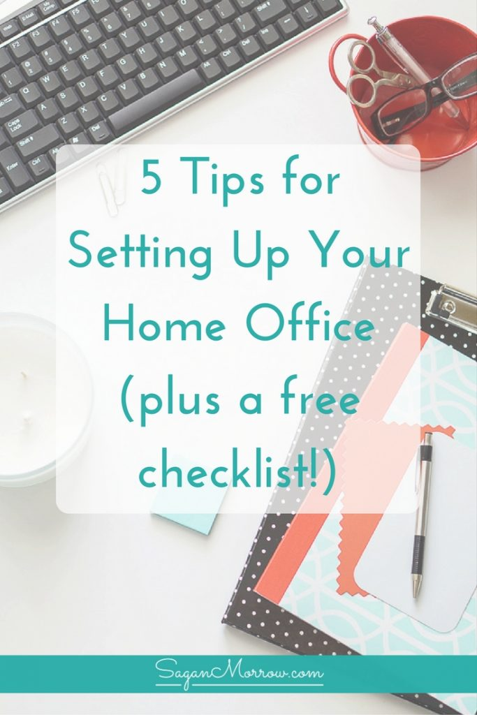 Thinking about working from home full-time? You're going to need an awesome home office to work at! Grab your FREE ultimate home office checklist + get tips for setting up your own perfect home office for your freelance business. Click on over to get the tips + freelancer checklist now!