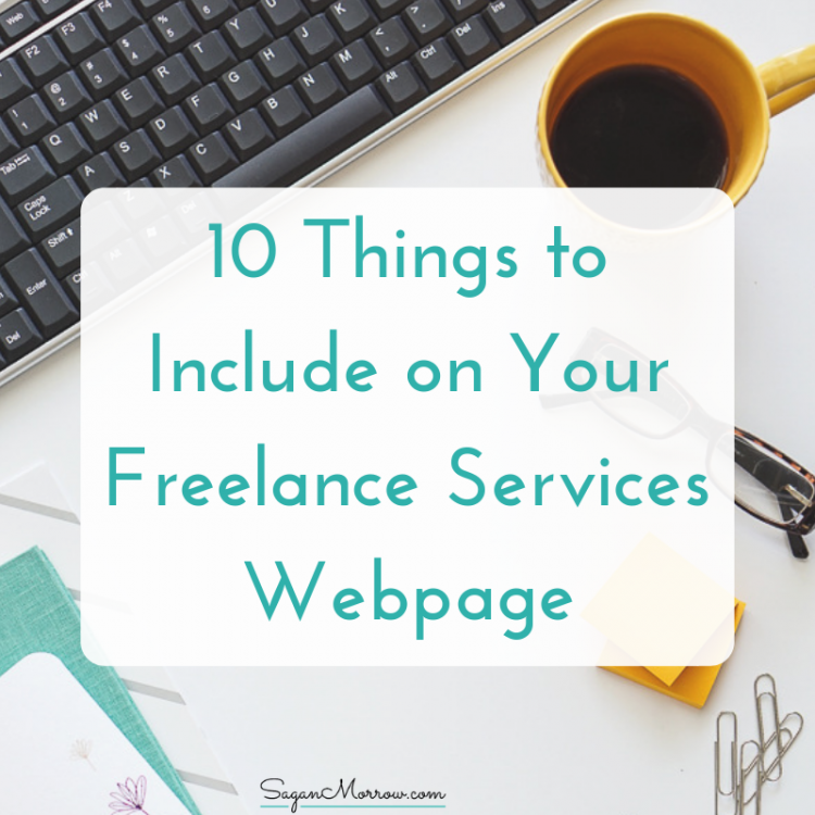 things to include on freelance website