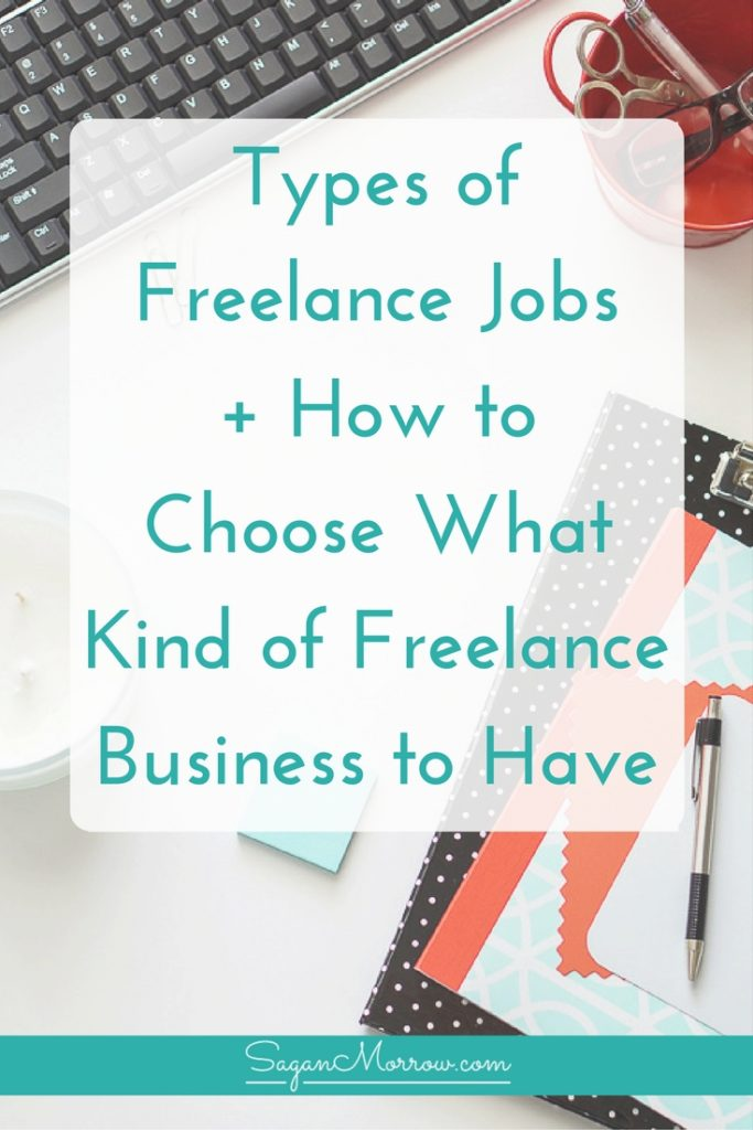 What type of freelance job is right for you? Do you know how to choose between types of freelance jobs? Learn a variety of different types of freelance businesses you could start, PLUS what you need to know when it comes to choosing what kind of freelance business to have! Click on over to get the goods in this freelance tips blog post now.
