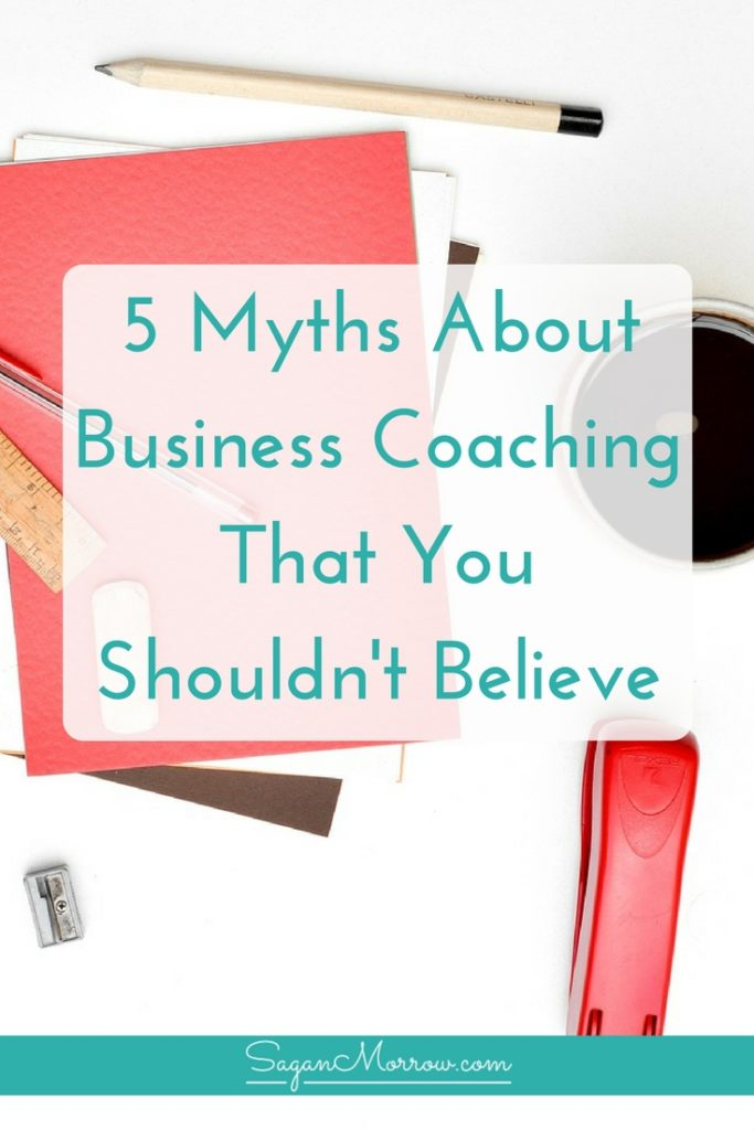 Not sure whether you should hire a business coach? Find out 5 myths about business coaching in this article, plus grab a cheat sheet for how to determine whether hiring a business coach is right for you! Click on over to get the goods now *** freelance tips *** freelance coach *** freelance coaching ***