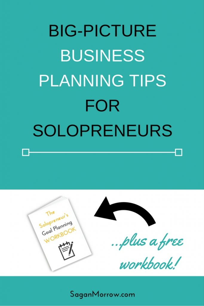 Want help with business planning and setting goals for your solopreneur business? Look no further! This article shares concrete business planning tips plus features a workbook to help you with goal setting. Click on over to get the scoop!