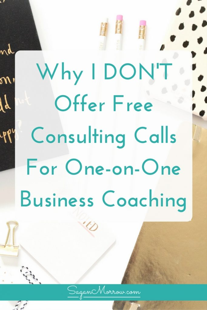 Find out why I DON'T offer free consulting calls for my small business coaching services... and what I do instead! This article breaks it down (plus shares some other pretty great free resources for your solopreneur business!). Click on over to get the goods now...