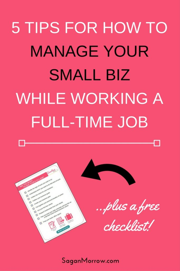 Yes, you CAN work full-time and have a side business at the same time! You just need the right tips and resources to make it work. Luckily, I've got you covered! I've learned a lot about juggling commitments over the years, and these 5 tips are going to empower you to successfully navigate working full-time and running a small business...