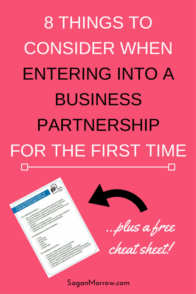 Thinking about starting a business with a friend? Read this article first! Find out the top 8 things to consider when entering into a business partnership: these are the must-ask questions when you start a business with a partner. Click on over to get the business partnership tips now!