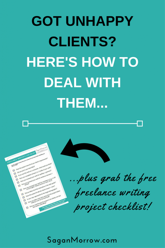 Dealing with unhappy clients can feel awkward and uncomfortable -- but it doesn't have to be! Find out how to best deal with unhappy clients in this blog post, plus grab a checklist to ensure that you feel confident about having produced high-quality work every time you submit a freelance writing project...
