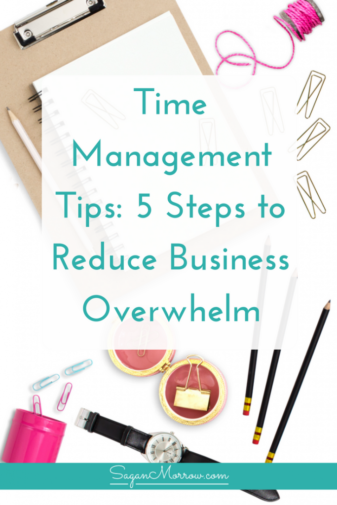 Get time management tips for business owners in this time management tips video training! Includes 5-step system to reduce business overwhelm and get focused in your business, plus additional quick tips to stay organized as a small business owner. Click on over to get the scoop!