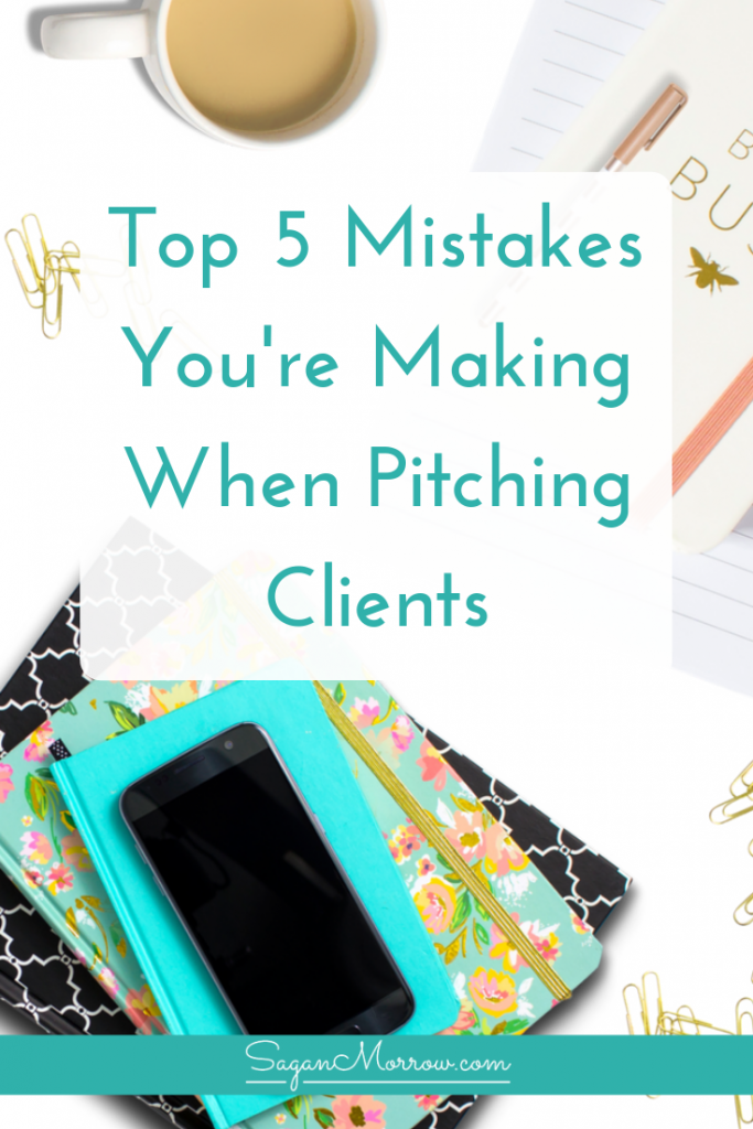 If you're pitching clients without much success, you just might be making one (or more!) of these top 5 most common business pitching mistakes. Know the mistakes you're making when pitching clients so you can learn exactly what to do to avoid making these business pitching mistakes again in the future! Click on over to read the blog post now