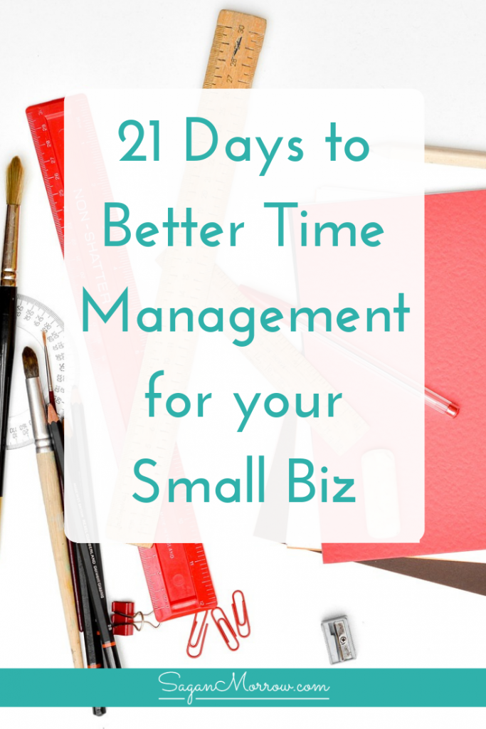 Learn effective time management strategies for your awesome small business in this blog post. Each time management strategy is something you can do in just 15 minutes/day, so it's totally doable! Use these time management strategies to get more focused & be more productive as a small business owner. Click on over to get the time management tips now...