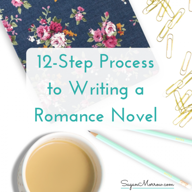 romance novel writing process square